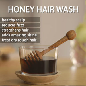 WASH HAIR WITH HONEY
