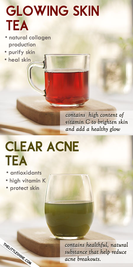 CLEAR AND GLOWING SKIN TEA RECIPES