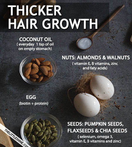 FOODS FOR THICKER AND FASTER HAIR GROWTH