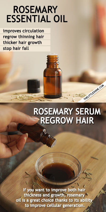ROSEMARY ESSENTIAL OIL TO REGROW THINNING HAIR