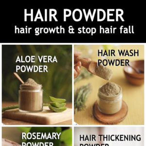 Make these natural powders at home for hair growth