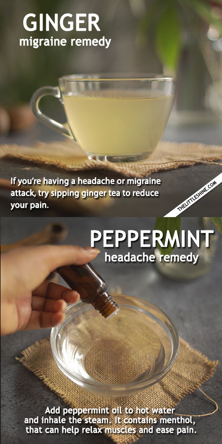 NATURAL CURES TO EASE YOUR HEADACHE